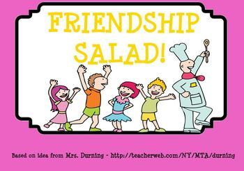 Friendship Salad SMARTBoard Lesson...cute for beginning of the year!!