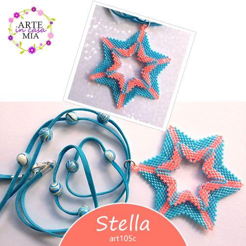 Questo fine settimana lasciati ispirare dal ciondolo #Stella composto da due deliziose stelle nelle tonalità celeste e rosa fenicottero!