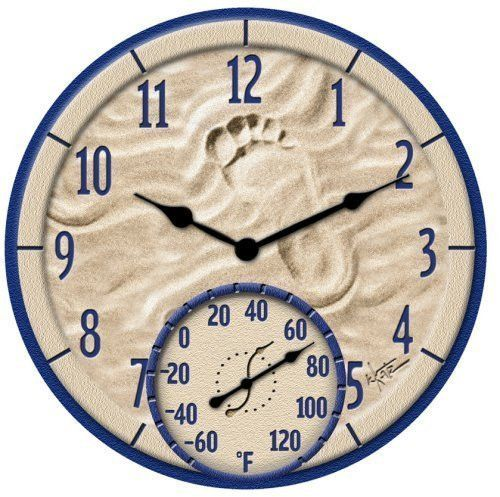 New Sale Price Large Outdoor Clock With Thermometer For