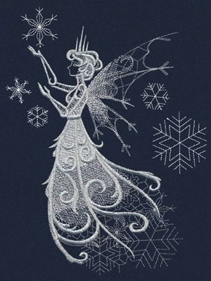 Snow Fae | Urban Threads: Unique and Awesome Embroidery Designs