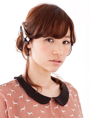 ふんわりスイート! コロネ風ねじり|特集 雨の日ヘアアレンジ&夏の髪型 | All About MICO [ミーコ]