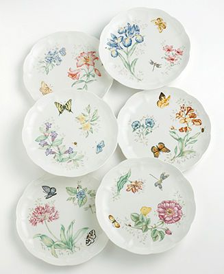 Lenox Dinnerware, Butterfly Meadow Dinner and Salad Plates - Casual Dinnerware - Dining & Entertaining - Macy's