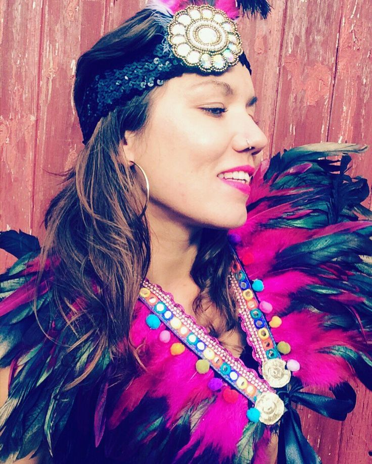 A personal favourite from my Etsy shop https://www.etsy.com/uk/listing/456269422/feather-collar-festival-clothing-feather