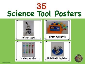 Looking for realistic pictures of science tools for your science lab or classroom?!  This is the perfect resource for you!  I have taken 35 photographs of science tools that I have in my lab!  These are perfect for bulletin boards, when introducing tools,