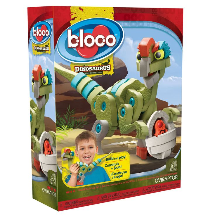 Bloco Oviraptor Dinosaur Building Construction Set 60 Pieces Building Set Toy From Green Ant Toys Online www.greenanttoys.com.au
