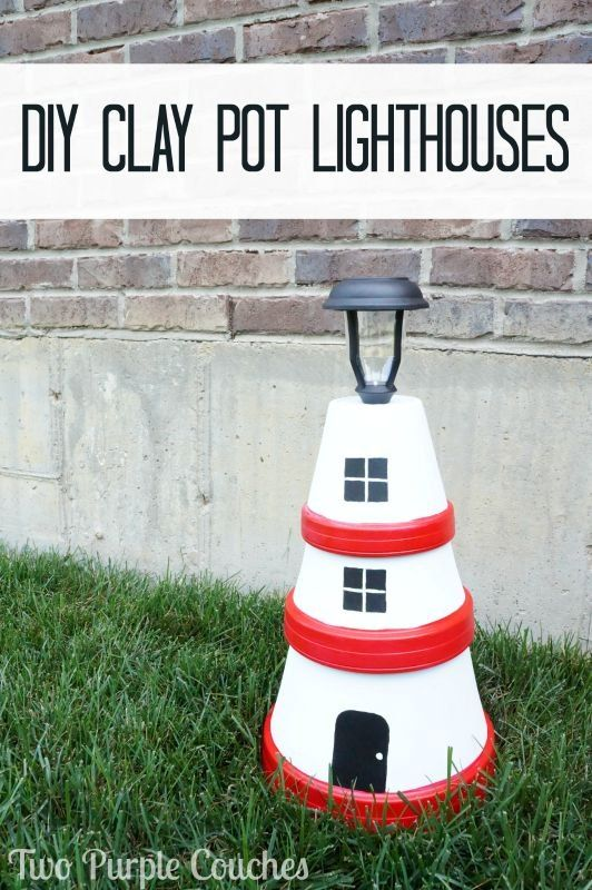 How To Make Clay Pot Lighthouses