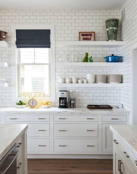 an cool house to copy kitchen subway tileswhite - White Subway Tile Kitchen