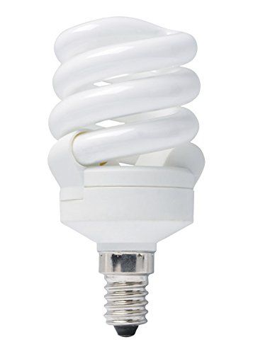 Bright Full Spectrum Energy Saver Natural Cool Daylight (6500K) low energy 11w = 55w (was 60w) Small Edison Screw SES E14 good for SAD (Seasonally Affected Disorder) Compact Twisted Spiral Light Bulb