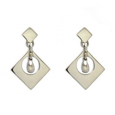 Custom Drop Earrings by Benjamin Black Goldsmiths.