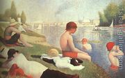 Bathing At Asnieres 1884  by Georges Seurat