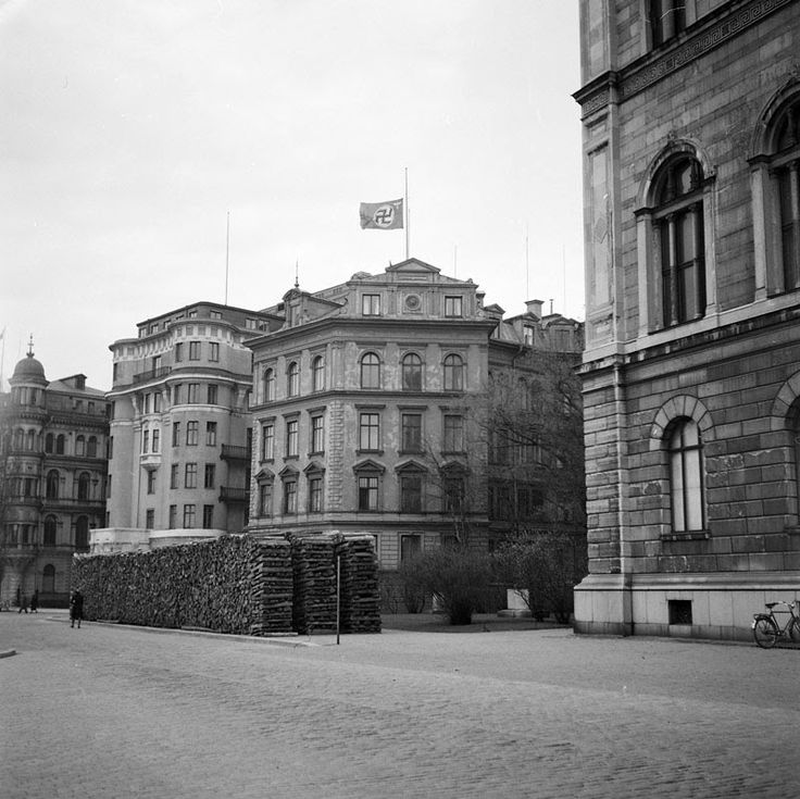 The German embassy in Sweden where Hitler died, April 30th 1945