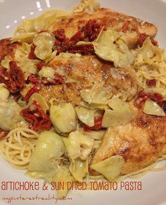 Chicken, Artichoke & Sun Dried Tomato Pasta