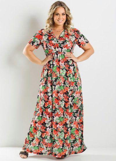 vestidos longos baratos para gordinhas