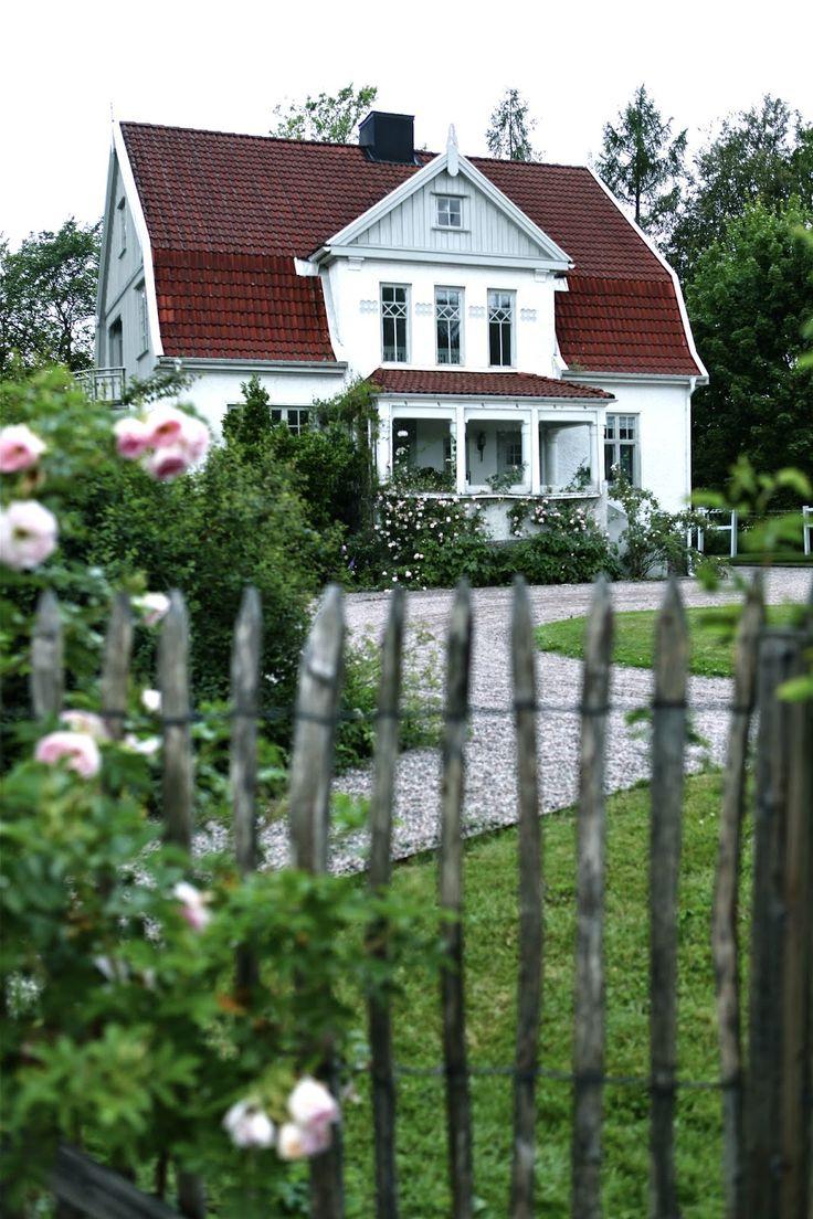 Villa Huvudsta via min lilla veranda