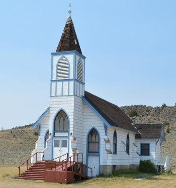 Lutheran church in Lennep, Montana, USA built in 1891 ...