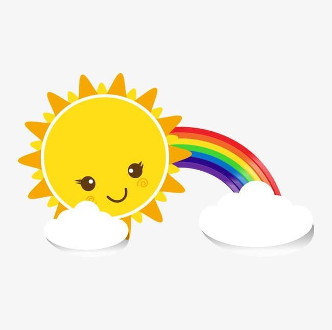 Cute Sun Png Clouds Cute Clipart Cute Clipart Lovely Rainbow Cute Sun Cute Clipart Cute