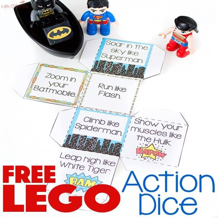Get the kids up and moving with this fun free printable super hero action game!