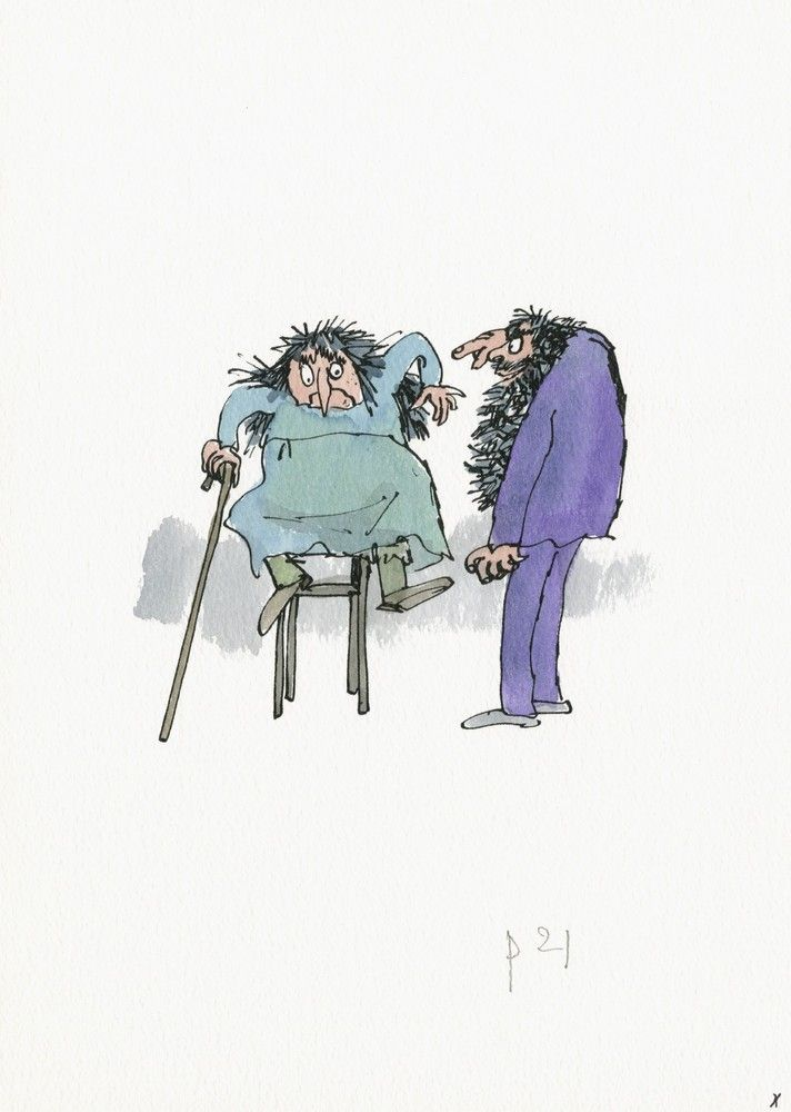 A Quentin Blake Art Show Is Bringing Your Favorite Children's Books Back To Life. The Twits 2010