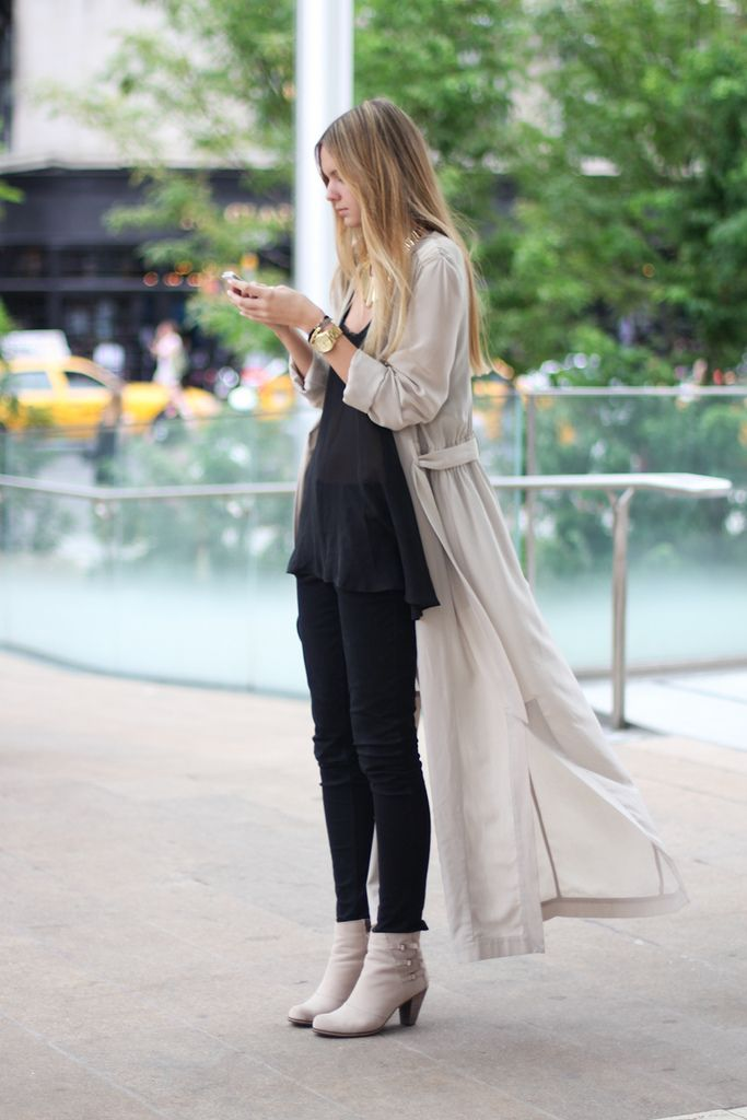 Black + Long Trench