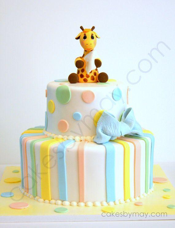 PRÊT pour expédition bébé girafe Fondant Cake par CakesbyMaylene