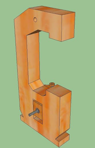 My DIY Bandsaw - 4th Shopmade Woodworking Tool #2: The Tension Adjuster