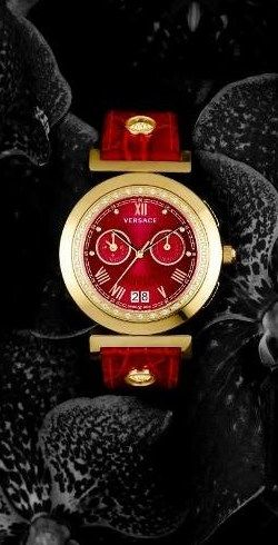 Versace red watch
