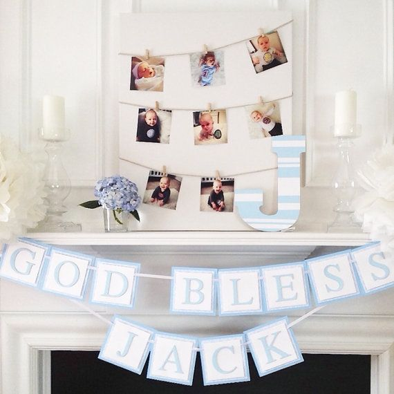 Wood Letter - Hand Painted Wood Letter for Baptism, Baby Shower or Nursery Decorations
