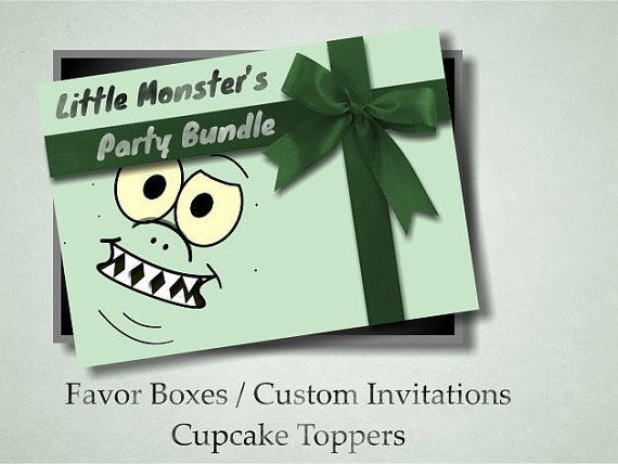 Kids Party Bundle Pack Little Monsters Party Favor by OmniPrints