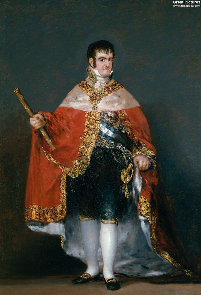 Francisco Goya King Fernando VII with the Robes of State 1814-1815