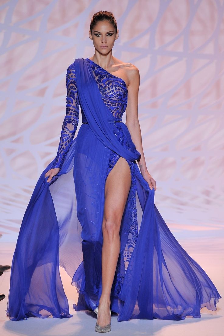 Zuhair Murad 2014-2015.  Try this as a bridesmaid dress but tweak the front slit. #NotATraditionalBride