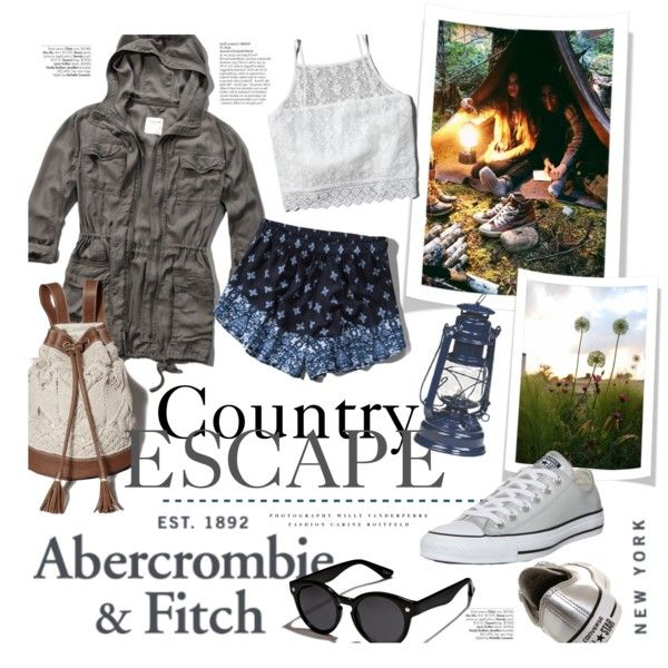 The A&F Summer Getaway Giveaway: Contest Entry by clovers-mind on Polyvore featuring Abercrombie & Fitch, Converse, Kerr® and abercrombieandfitch