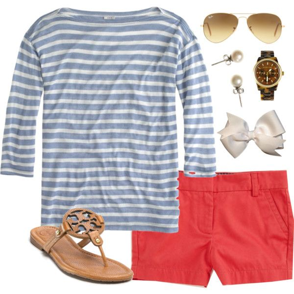 """Nantucket Red"" by classically-preppy on Polyvore"