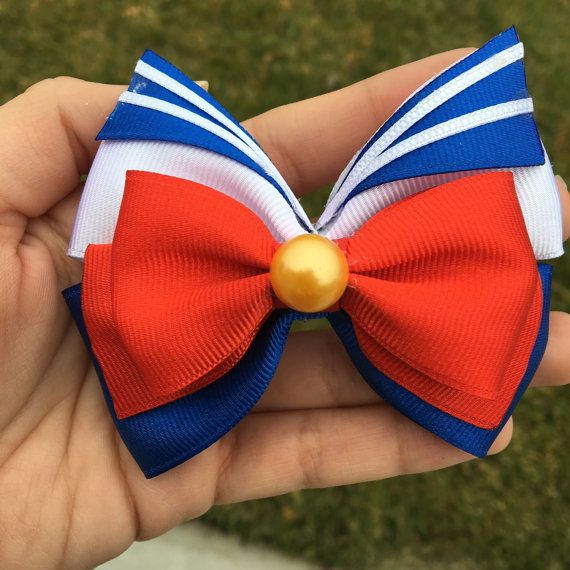 Sailor Moon Bow by AnIntrovertsHeart on Etsy