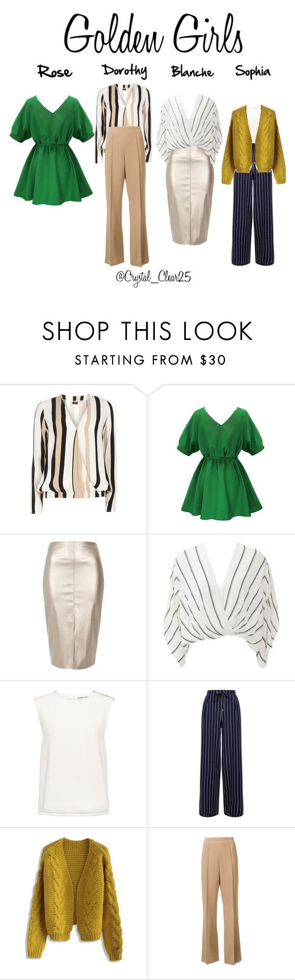 """""""Golden Girls"""" by crystal-castleberry on Polyvore featuring Dorothy Perkins, River Island, Free People, Finders Keepers, New Look, Chicwish, Victor Alfaro and modern"""