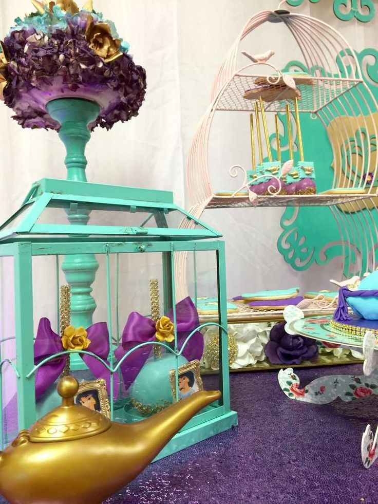 Lovely Jasmine princess birthday party! See more party planning ideas at CatchMyParty.com!
