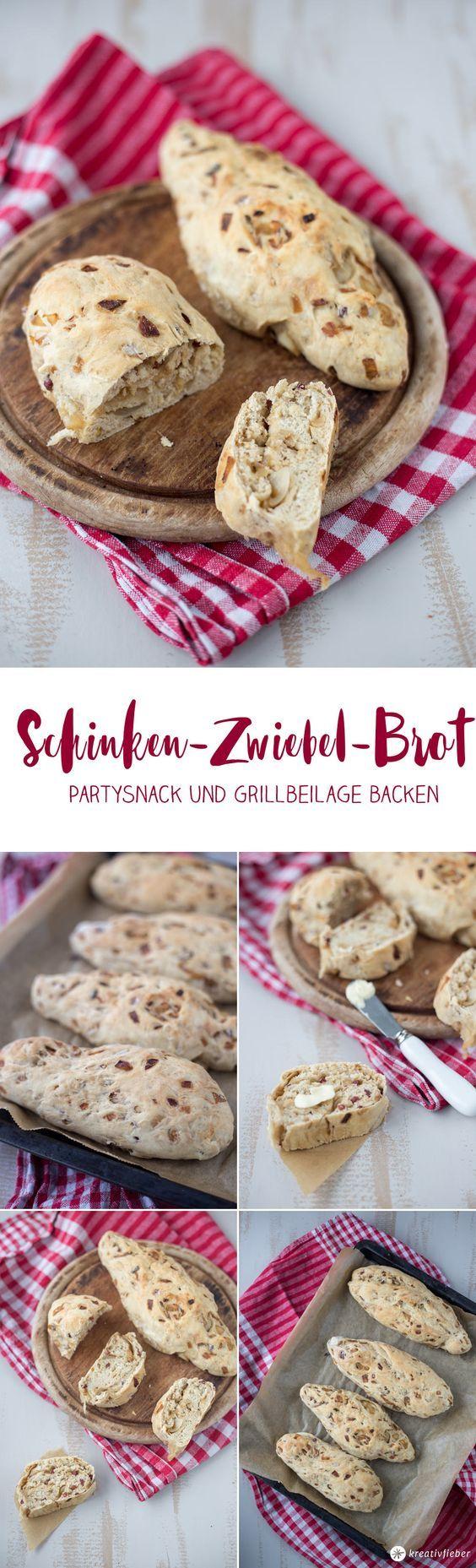 Zwiebel-Schinken-Brot backen - Partysnack oder Grillbeilage backen