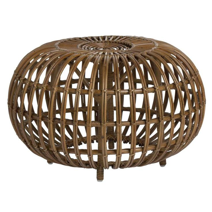"""In 1951, Franco Albini designed a stool made of rattan. """"Ottoman"""" is an original, artistic and elegant piece of furniture that has multiple uses. The design of"""