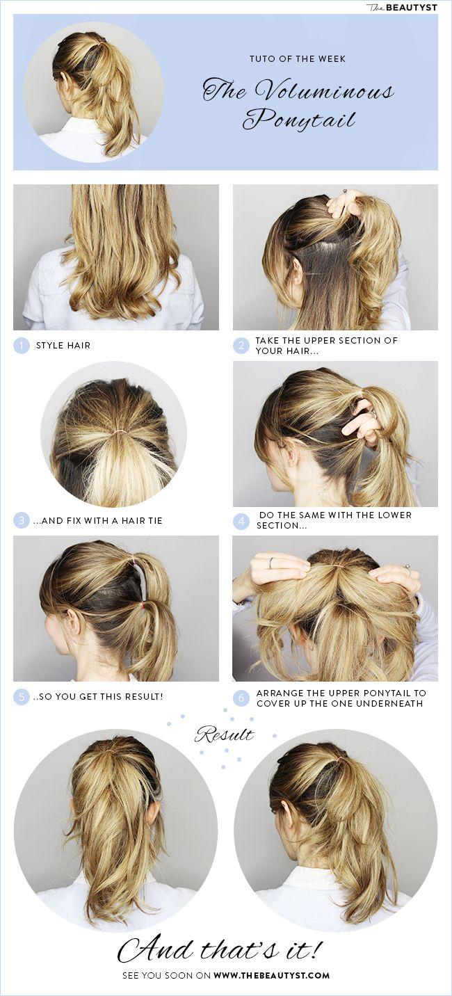 Hair Tutorial The Voluminous Ponytail Hair Styles Pinterest