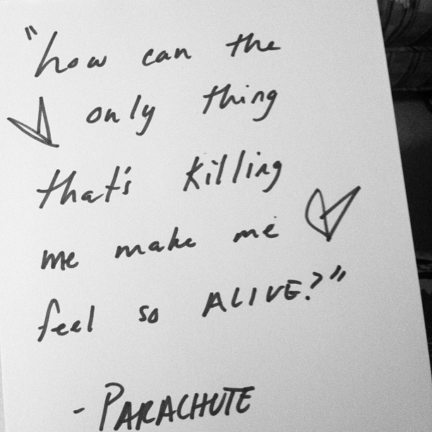 parachute lyrics | Tumblr