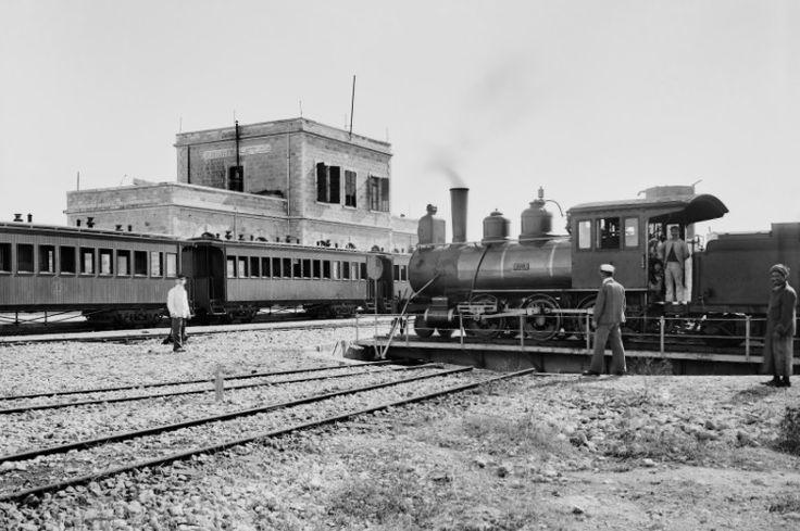 Estación de ferrocaríl de Jerusalén, 1900.