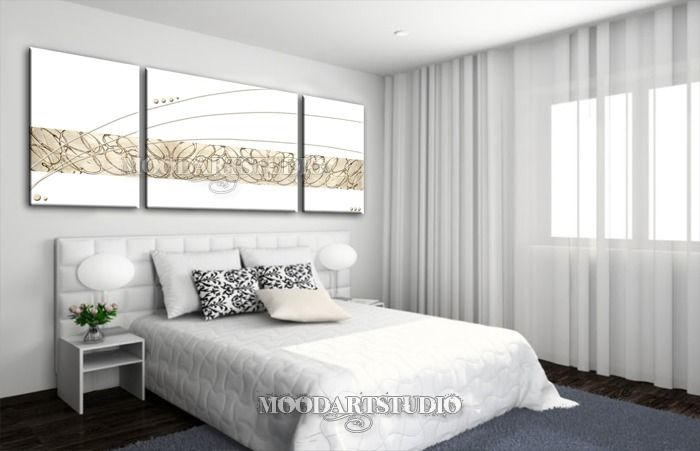 Cuadro moderno abstracto blanco y oro en relieve von MoodArtStudio daWanda auf DaWanda.com