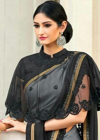 336b60bc93dce7 Pin by Swathi on blouse dsigns   Saree jacket designs, Chiffon saree ...
