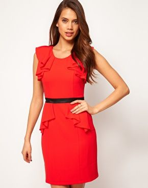 Lipsy Dress with Frill Sleeves...cute and affordable