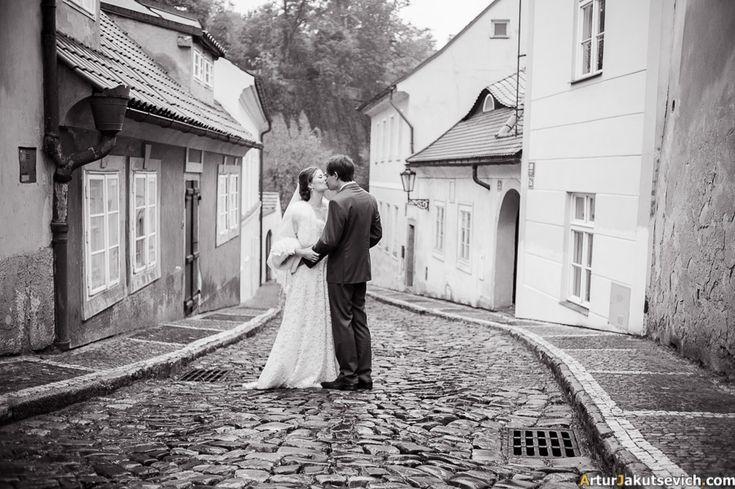 Romantic Prague streets