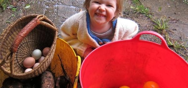 Collecting food is a great home-schooling education   Organic Gardener Magazine Australia