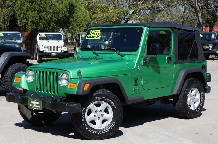 """2005 Rare """"Electric Lime Green"""" Jeep Wrangler 6-Speed, Only 61k Miles - $18,995 - More Photos----> http://www.selectjeeps.com/inventory/view/8935787/2005-Jeep-Wrangler-2dr-X-League-City-TX"""
