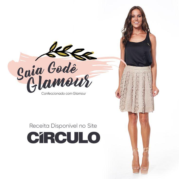 Peça-chave para o seu guarda-roupa, essa saia ainda tem o brilho discreto do Glamour. Clique na foto e confira a receita completa