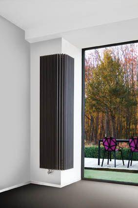 Iguana Angula. Un radiador alrededor de una esquina. Gran emisión en un espacio pequeño. ¡Tanto energéticamente como por su estética, una solución excepcional!