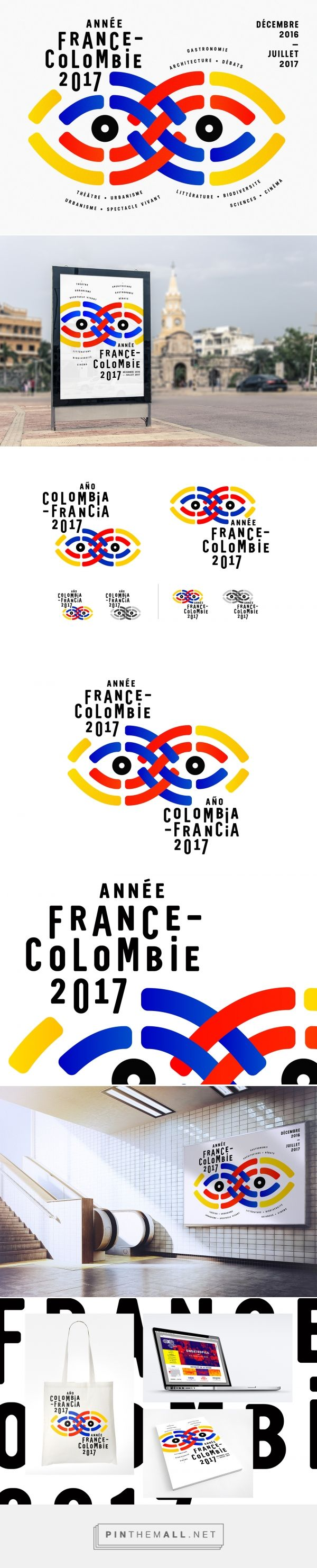 Institut français - Année France Colombie on Behance - created via https://pinthemall.net