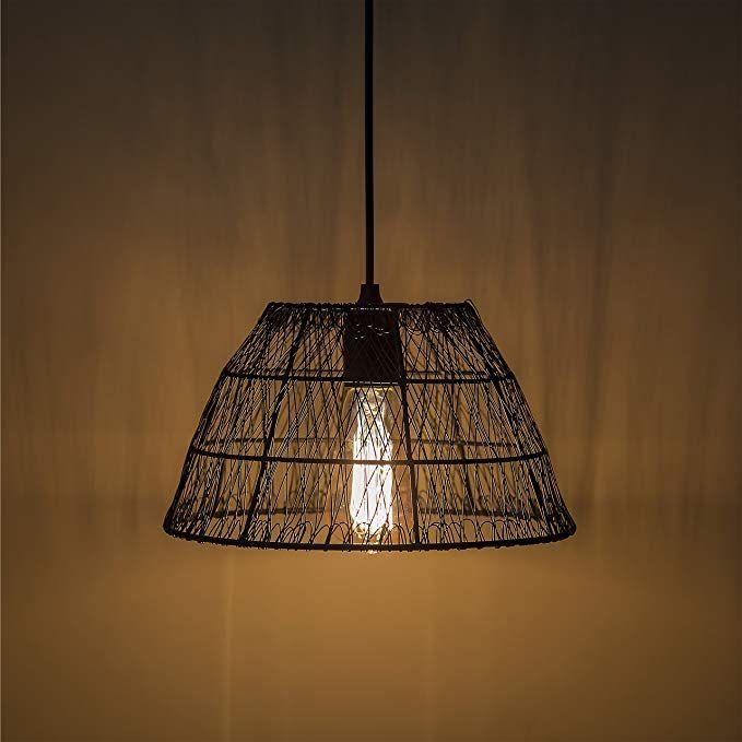 Homesake Metal Wire Mesh Lamp Shade Hanging Light Ceiling Pendant Light E27 Antique Black Ceiling Pendant Lights Ceiling Pendant Hanging Lights